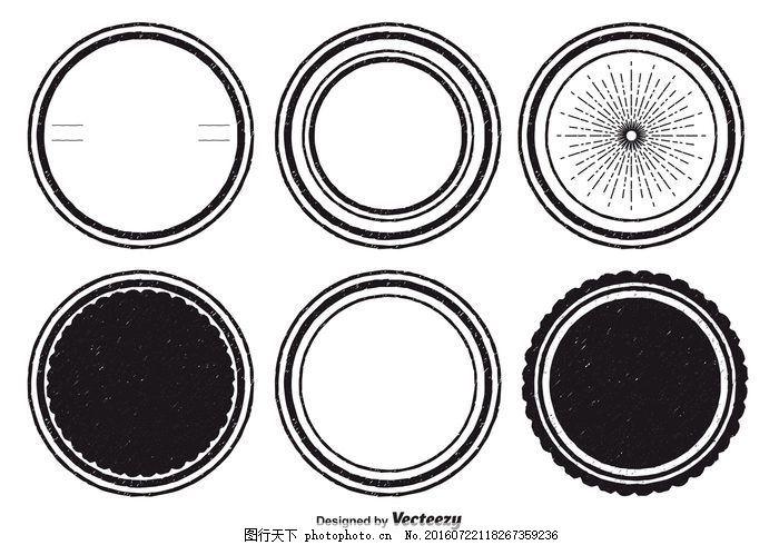 垃圾邮票 圈 橡胶轮 图标 边框 印章 墨水 黑色 椭圆形 形状