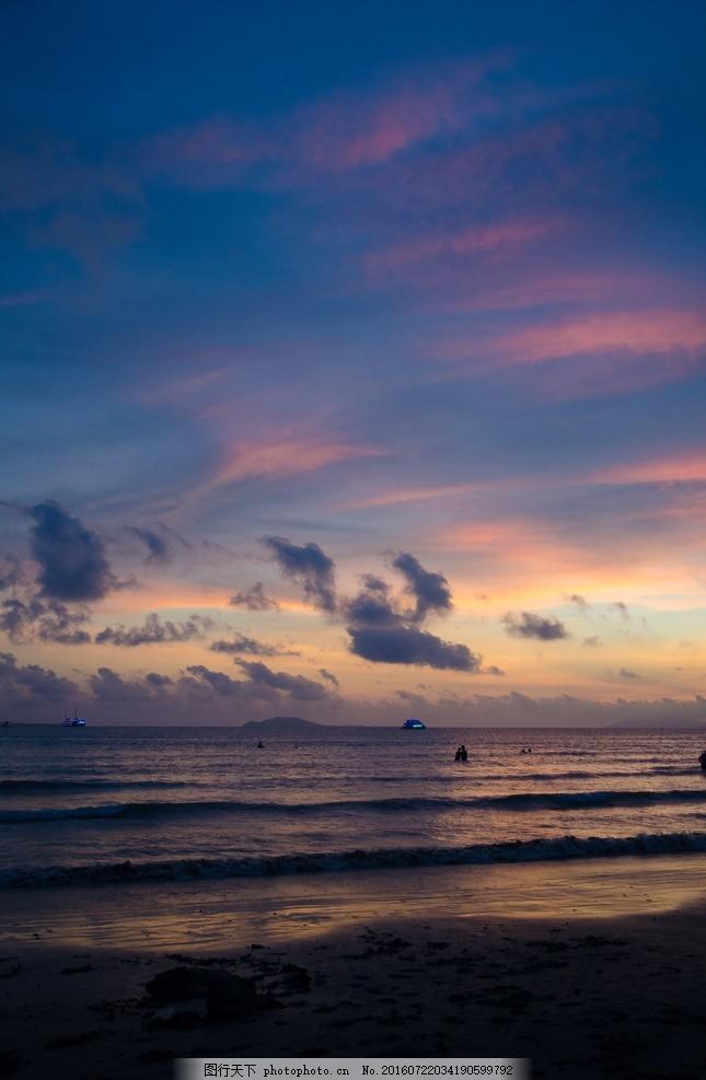 三亚风景 三亚 风景 落日 海边 海景 摄影 旅游摄影 自然风景 300dpi
