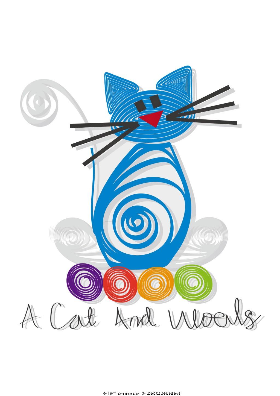 服装服饰图案卡通动物猫