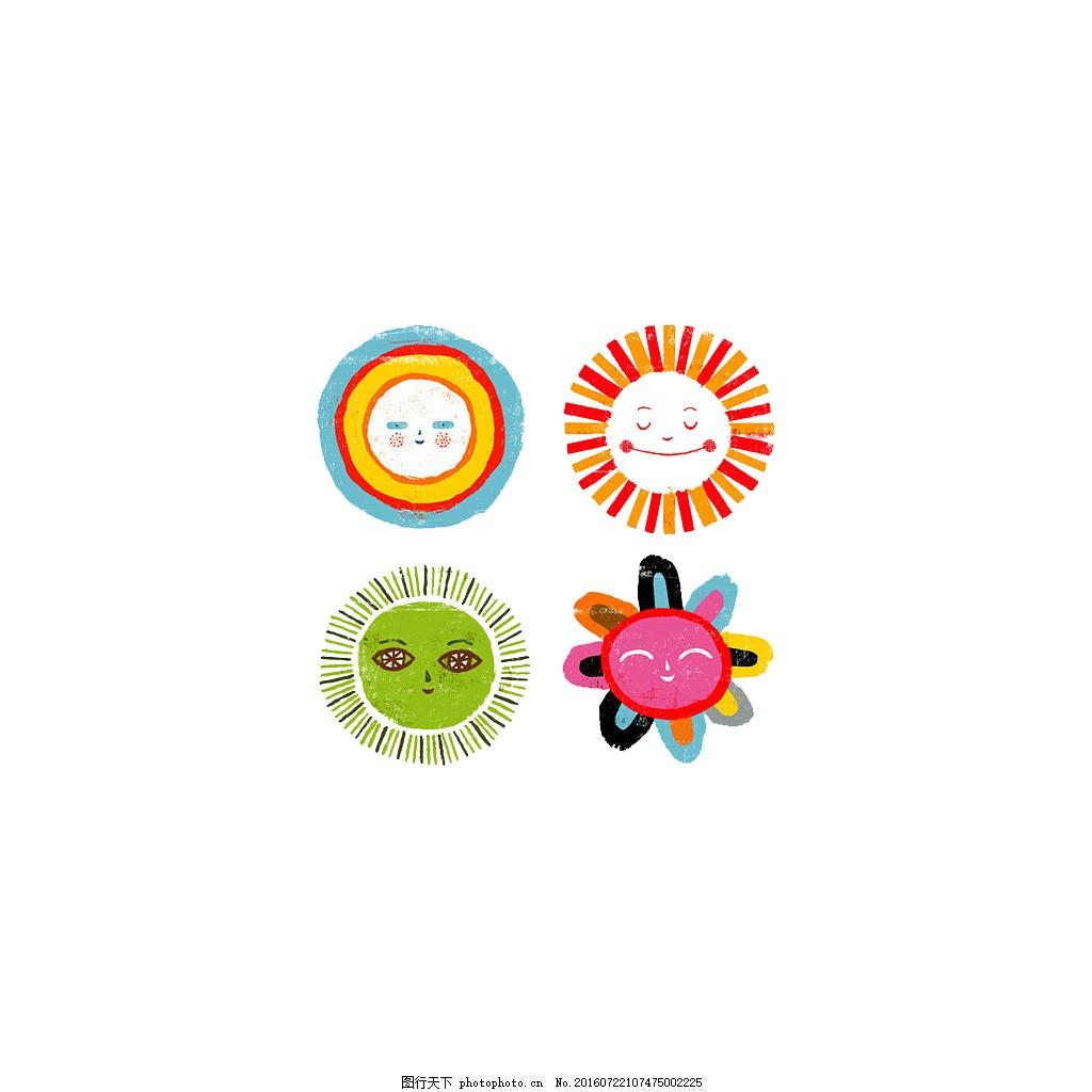 手绘插画 太阳花 绘画 图画 简笔画 淘宝素材 配图 网页