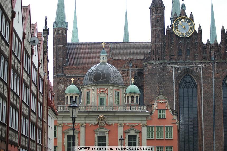 欧式古堡建筑图案