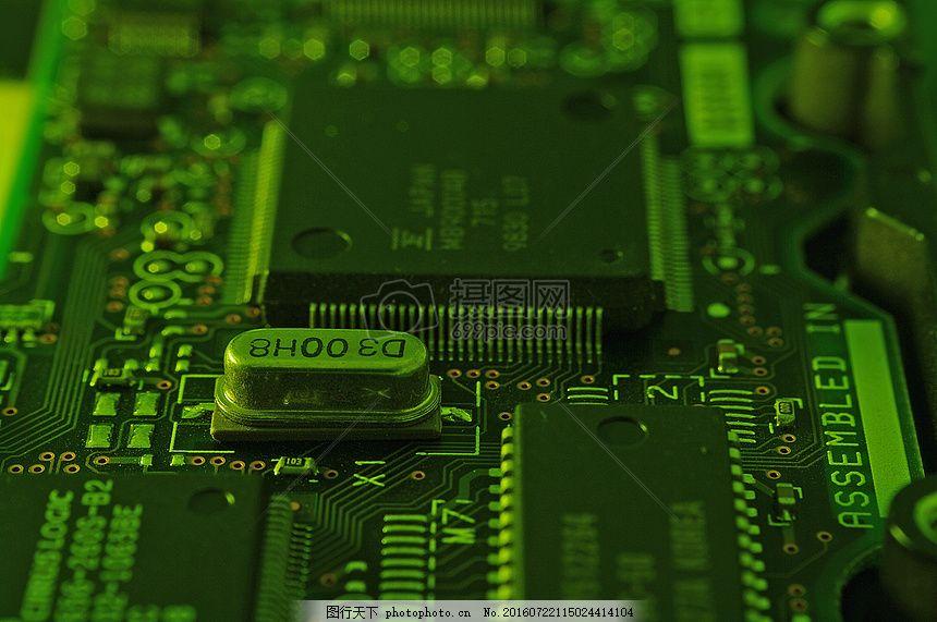 计算机的电路板 科技 绿色 电路     红色 jpg