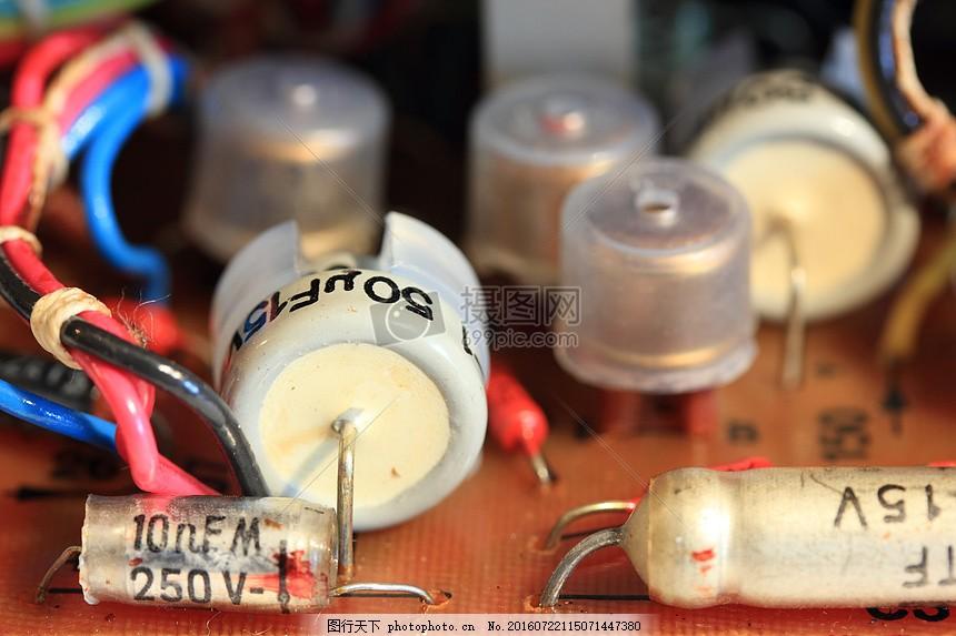 打开的线路板 波兰 苏联 战争 盖格 计数器 放射性 辐射 检查