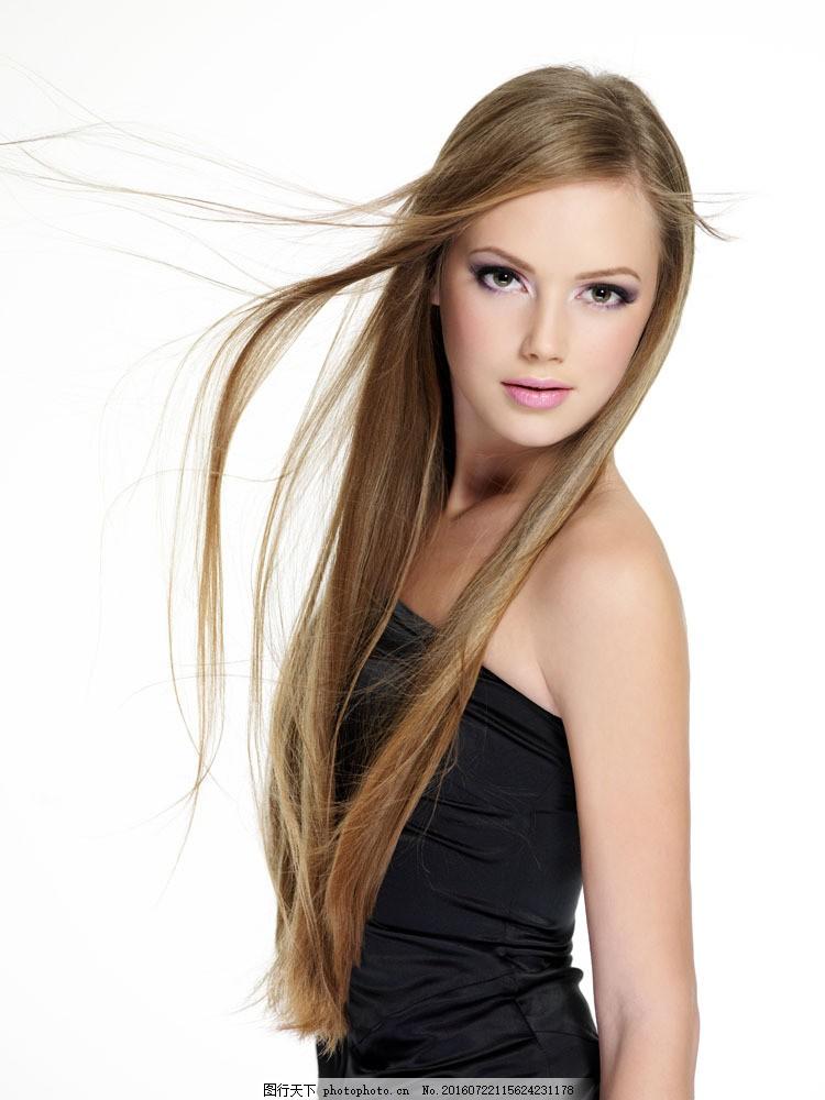 长发美女 长发美女图片素材 女性 美容美发 化妆 长直发 柔顺