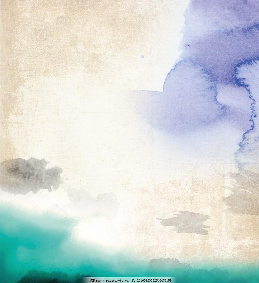 泼墨背景 水粉 颜料 绘画 水墨水彩 彩色水墨 喷溅 水彩喷溅