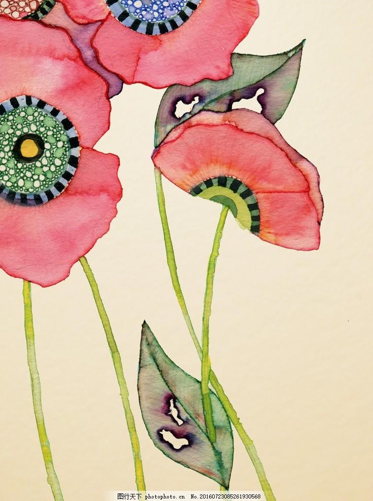花虫画 虫鸟花 虫鸟画 花鸟画 画鸟 画小动物 鱼类 植物 画花朵 临摹