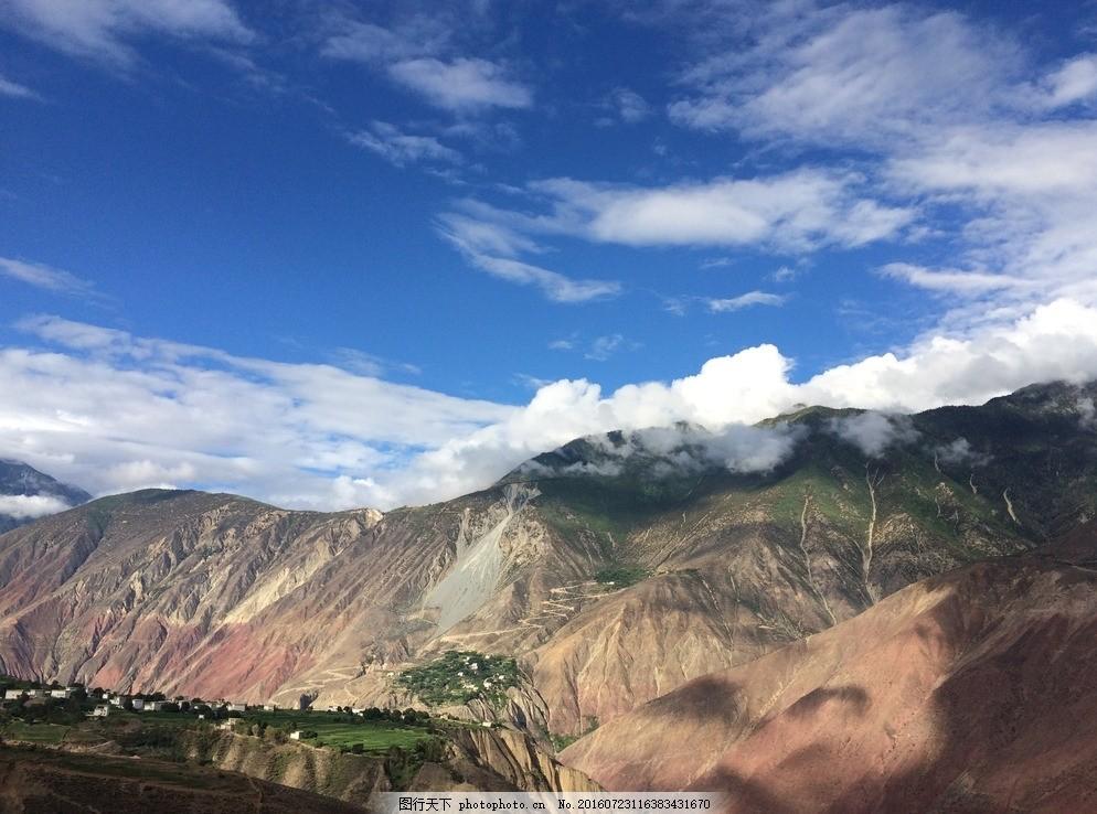 树木 高山 西藏 青海 旅游 青藏高原 摄影 风景 绿色 风光 318国道边