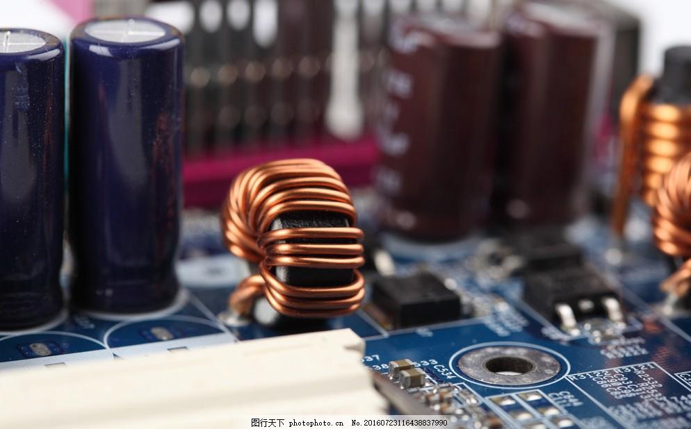 电路板局部特写 工业生产 现代科技 摄影