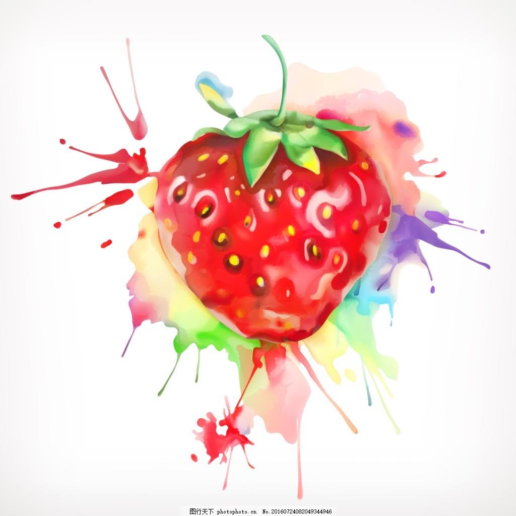 手绘水果草莓