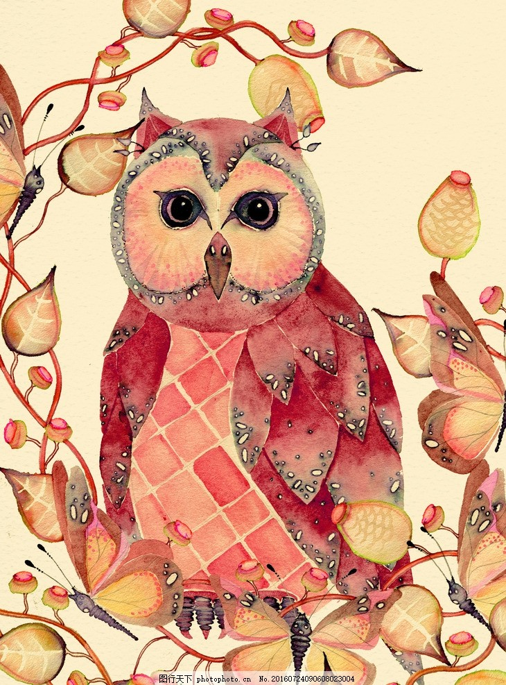 虫鸟花 虫鸟画 花鸟画 画鸟 画小动物 画花朵 临摹 学习绘画 水彩花鸟