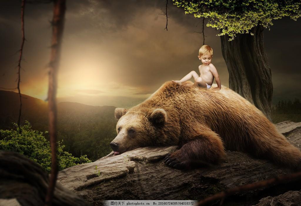 梦幻森林动物海报