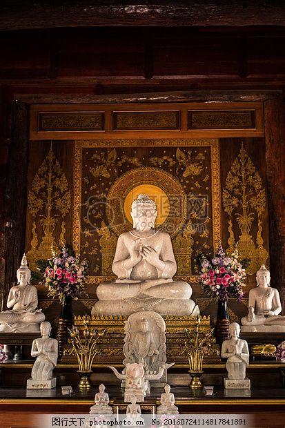 寺庙里的佛像 白色 宗教 信仰 花纹     红色 jpg