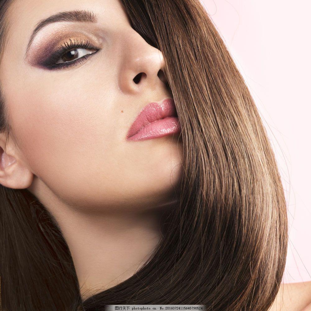 时尚美发模特美女写真图片