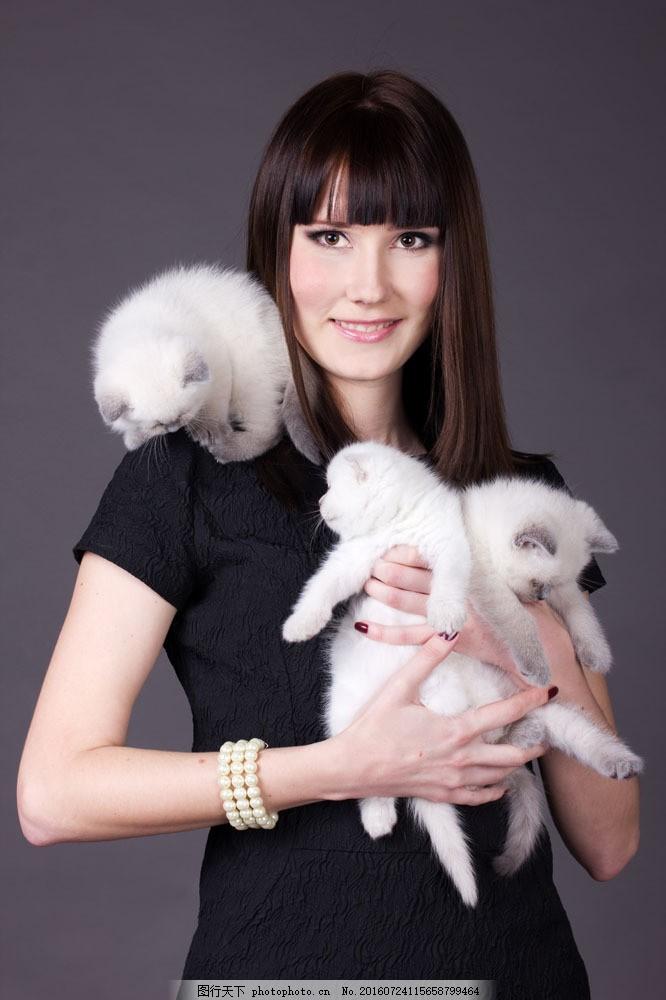 宠物与美女摄影 宠物与美女摄影图片素材 女人 动物 动物世界 生活