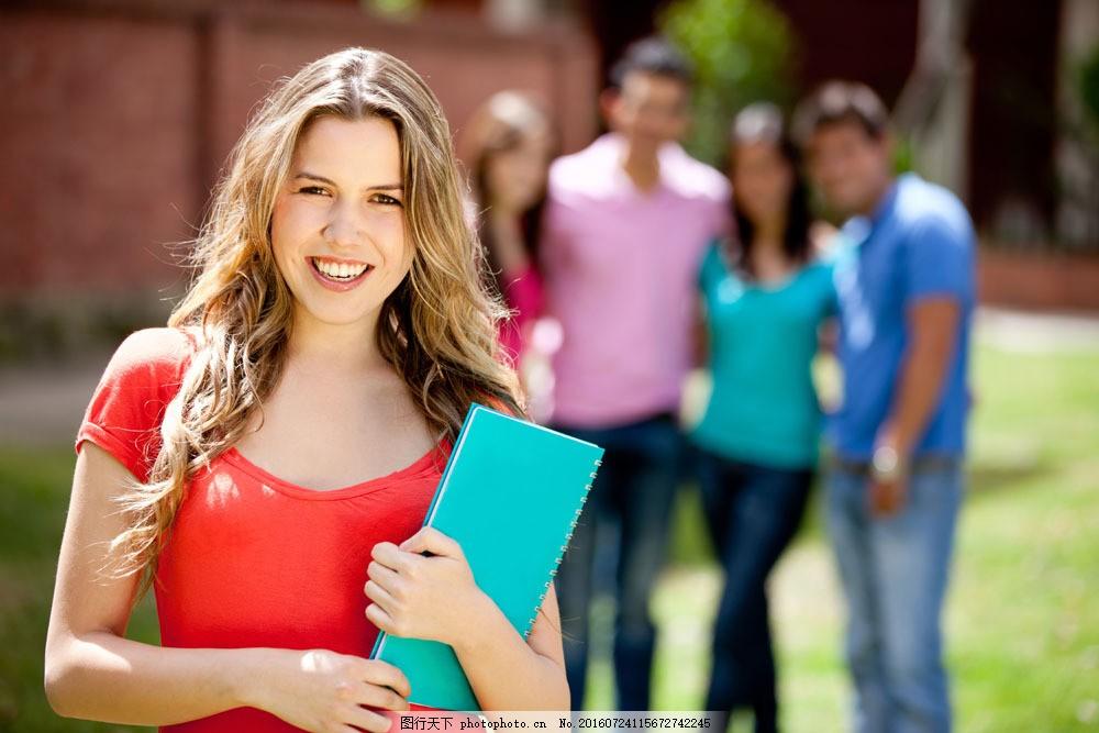 女孩 时尚美女 女生 大学生 学习 书本 生活人物 人物图片 图片素材