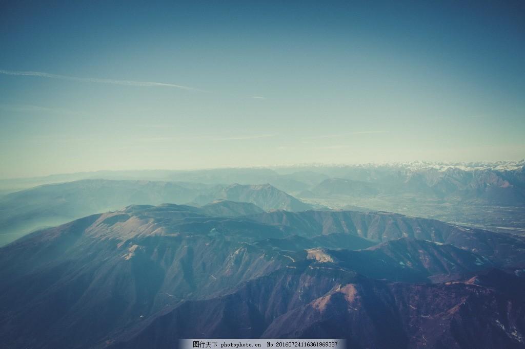 鸟瞰阿尔卑斯山脉高清 欧洲风光 阿尔卑斯山风景 高山 山峰 山川 连绵