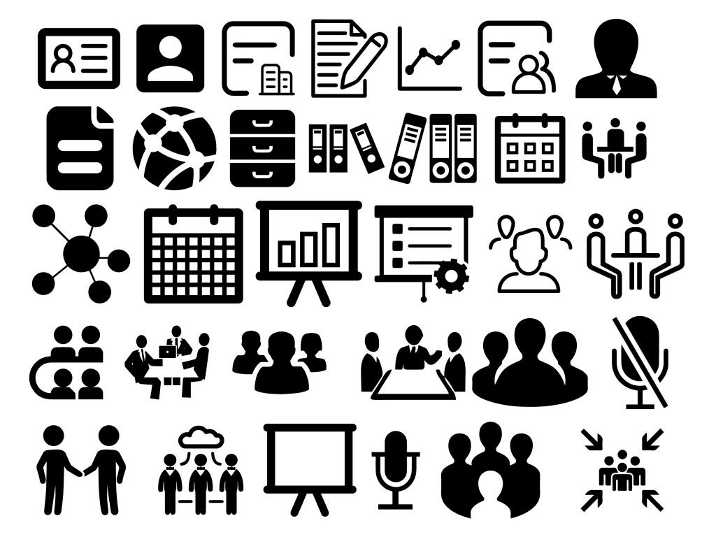 自由填色icon圖標-商務信息類 icon 圖標 商務信息 人物id 洽談 icon