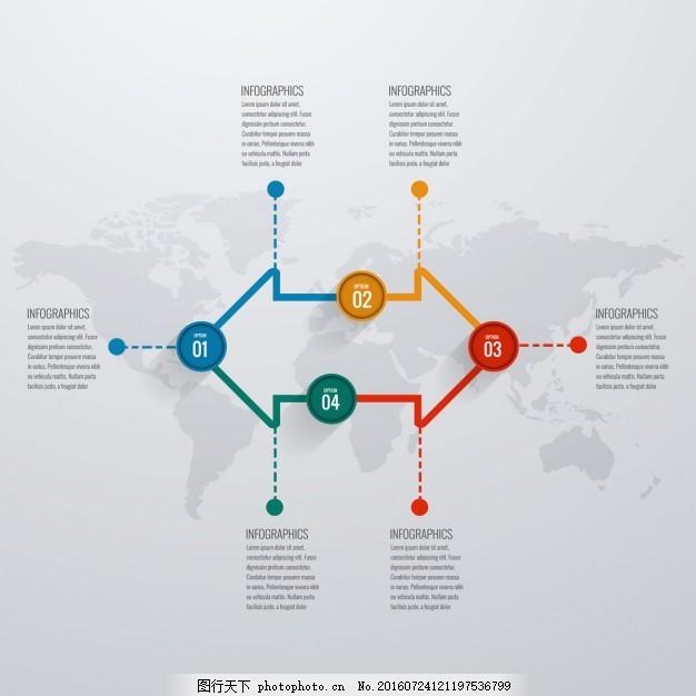 箭图表模板 业务模板 图形 市场营销 信息 过程 数据 步骤 生长