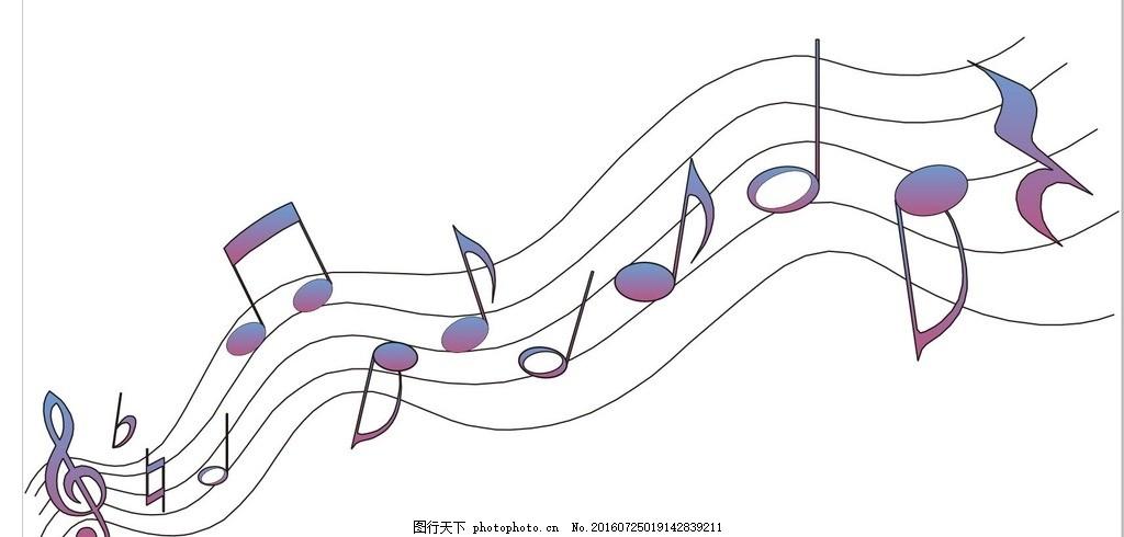 作曲 谱曲 创作音乐 五线谱 乐理 简笔画 线条 线描 简画 黑白画 卡通