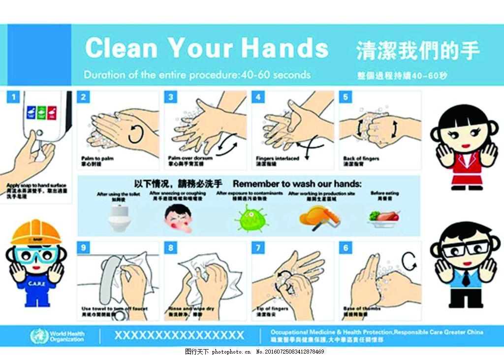 卡通 娃娃 洗手 洗手流程素材下载 洗手流程模板下载 洗手流程 幼儿园