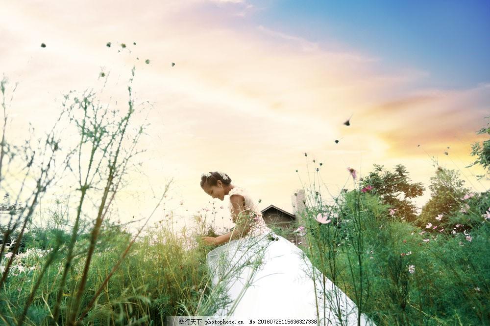 新娘唯美婚纱艺术照 新娘唯美婚纱艺术照图片素材 美丽风景 婚纱摄影