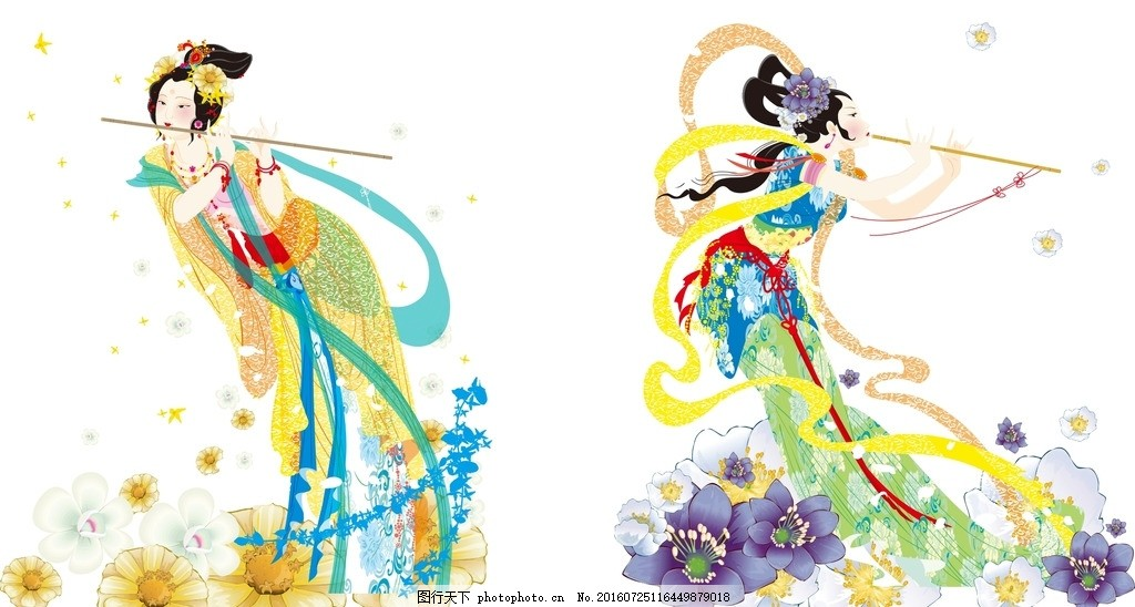 嫦娥 画 插图 仕女 手绘 团圆 嫦娥奔月 中秋节元素 月宫 神话