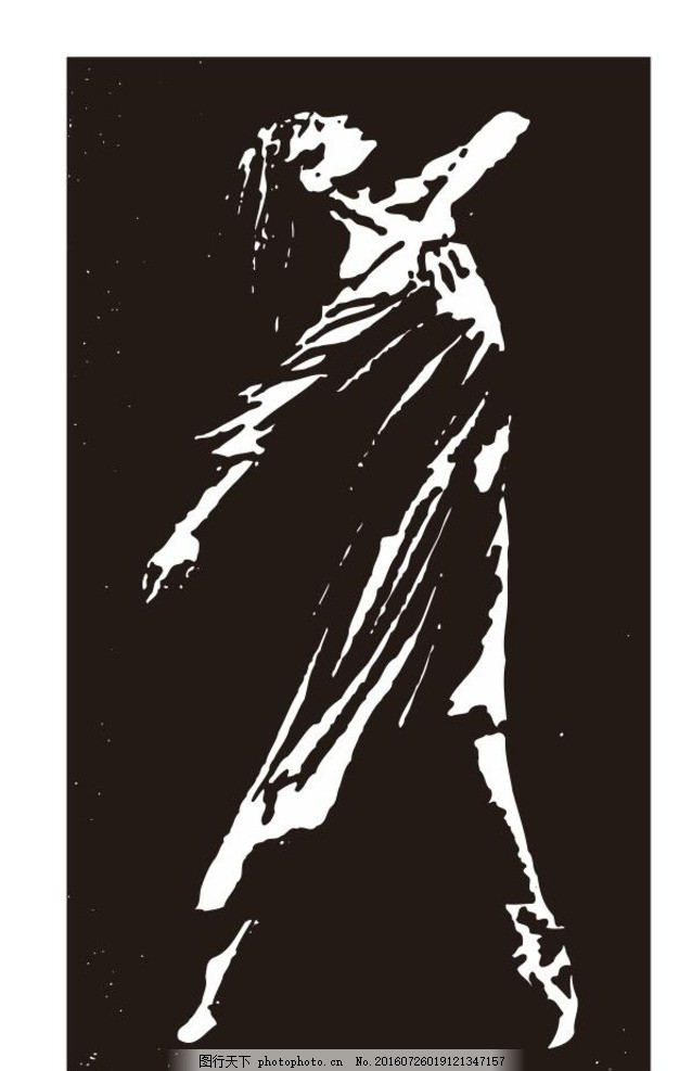 芭蕾舞 版画 海报 简笔画 线条 线描 简画 黑白画 卡通 手绘