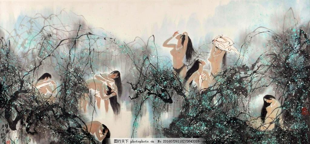 锺增亚 山水人物 钟增亚 山水人物国画 中国画 传统画 名家 绘画 设计