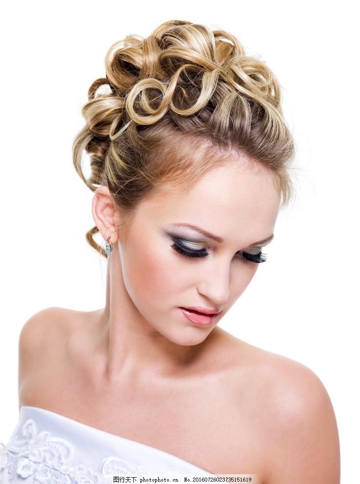 盘发美女 盘发发型 盘发 新娘发型 新娘盘发 新娘造型 新娘妆 长发