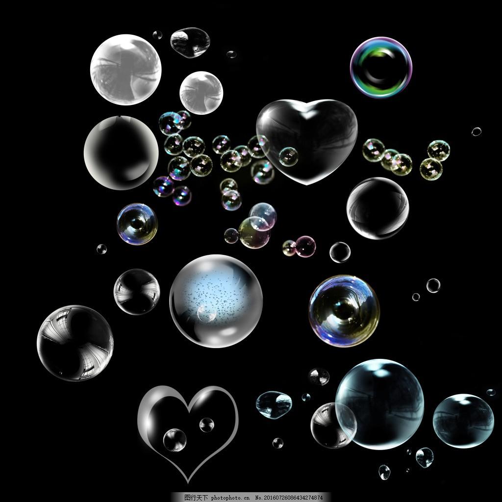 插画 海底 透明气泡 幻彩气泡图片 气泡 潮流 渐变 梦幻气泡 五彩色