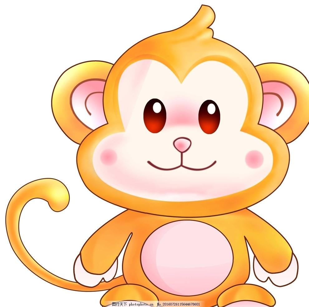 卡通猴子 金色 金猴 卡通动物 十二生肖 广告设计 卡通设计
