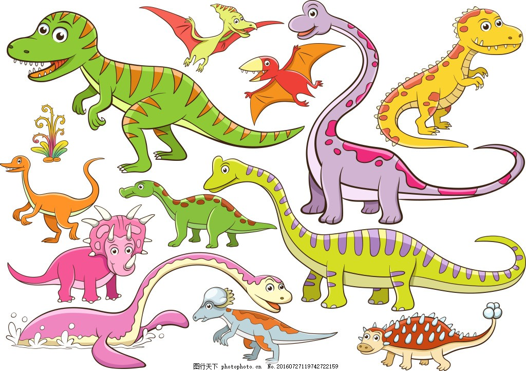 卡通恐龙 可爱