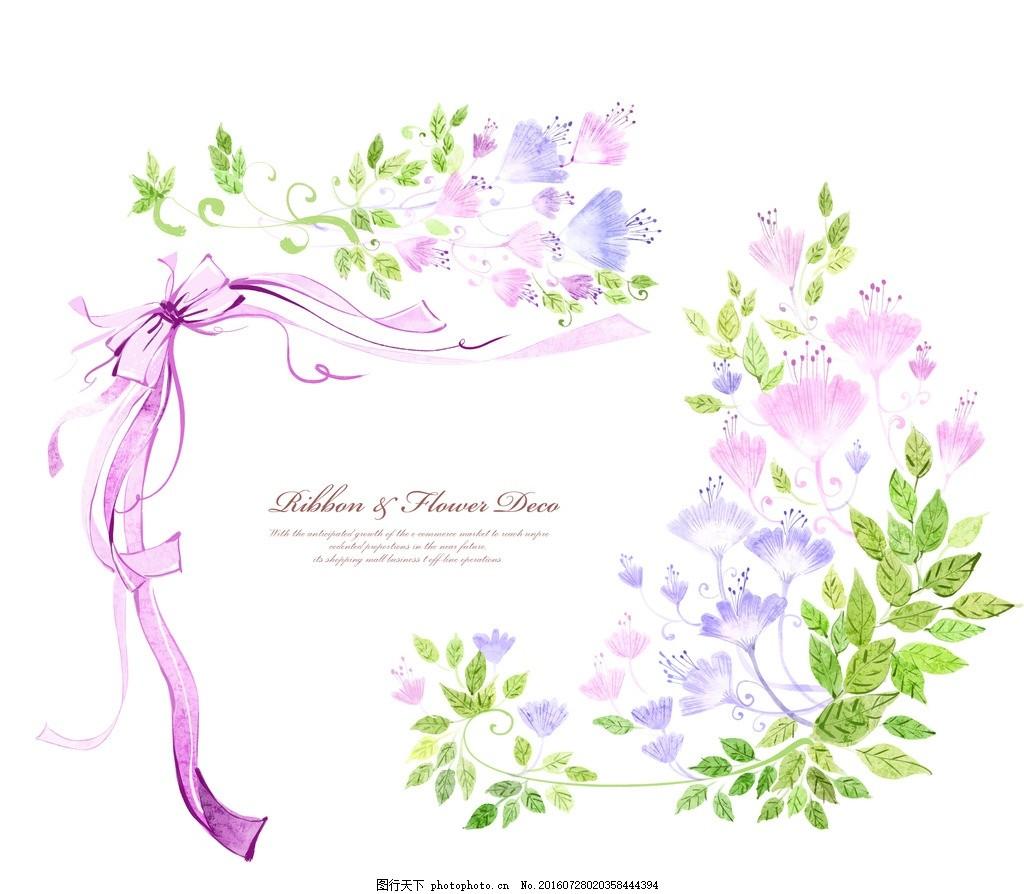 卡 花环 花边 花纹 粉色卡片 简单花卡 清新花纹 花纹卡片 生日贺卡