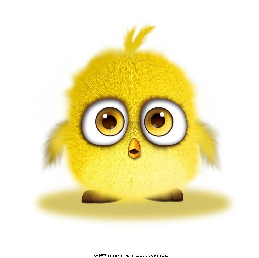 毛茸茸的小鸟 表情 动物 卡通 矢量图 平面素材 广告设计