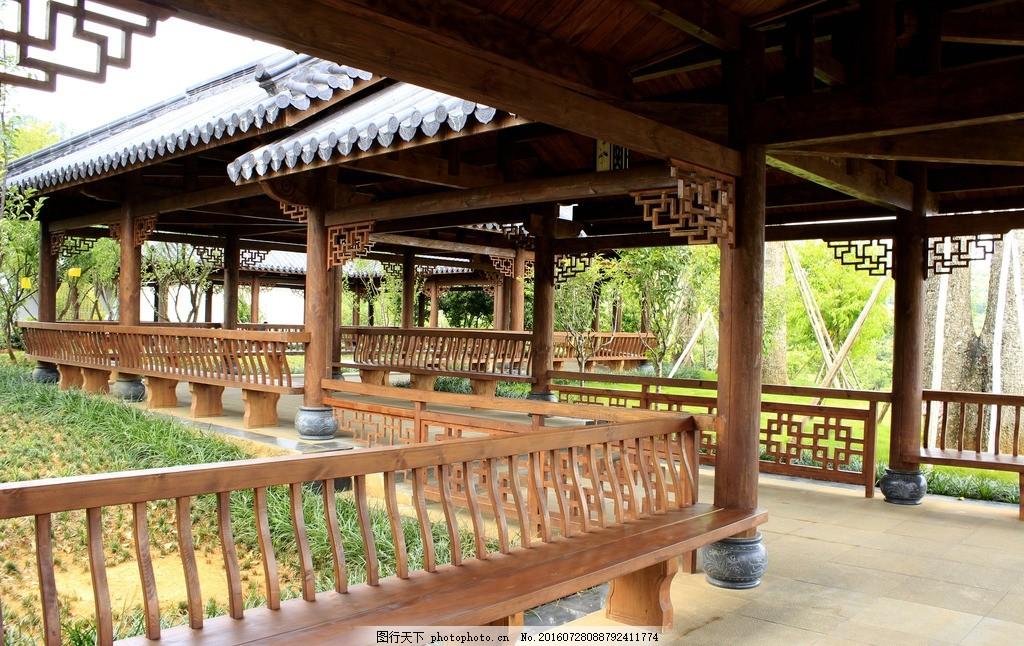 园林长廊建筑 长廊 廊 亭 长亭 园林建筑 建筑园林 建筑 木结构建筑