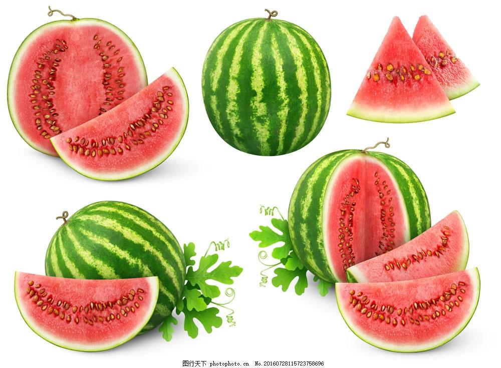 新鲜西瓜 新鲜西瓜图片素材 新鲜水果 果实 切开的西瓜 果肉 餐饮美食图片