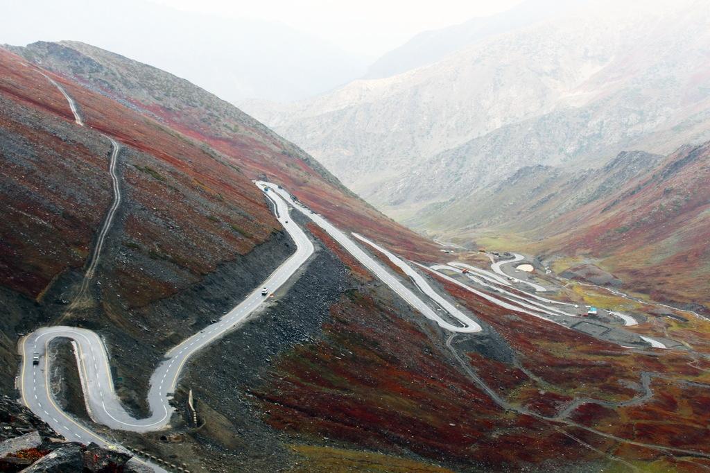 高清环山公路风景图片
