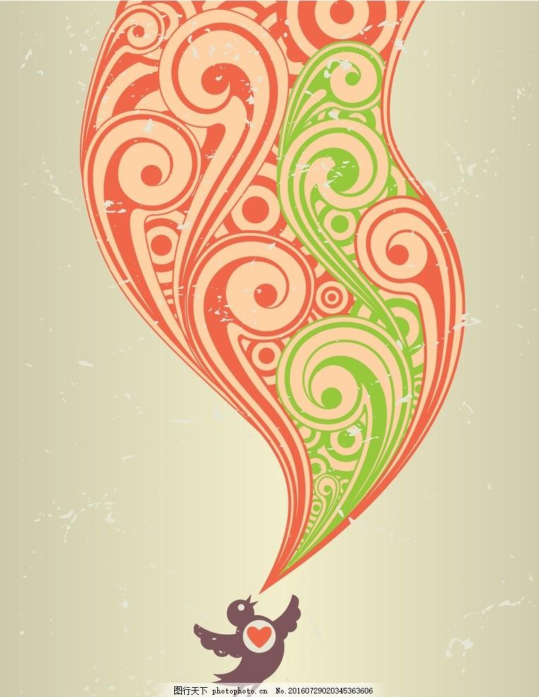 欧式花纹 矢量素材 其他矢量 手绘线条 花纹 设计 底纹边框 花边花纹