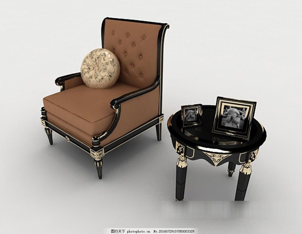 欧式花边单人沙发