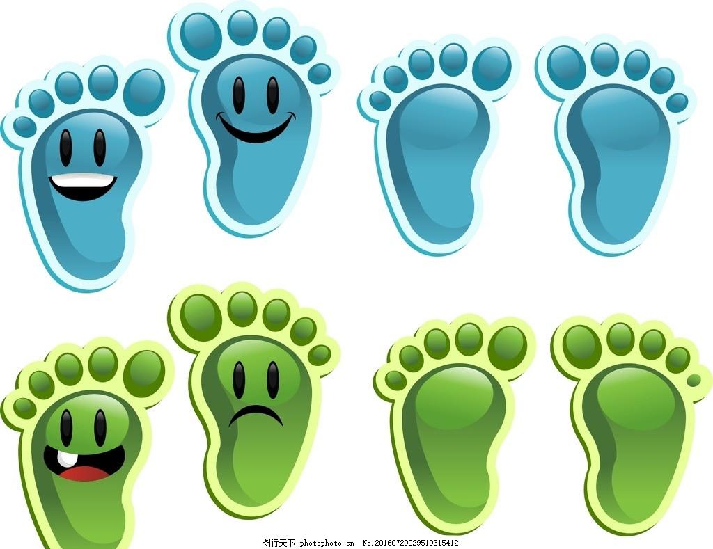 温馨提示 可爱 医院提示 小脚丫 矢量小脚丫 促销广告 卡通脚印 右图片