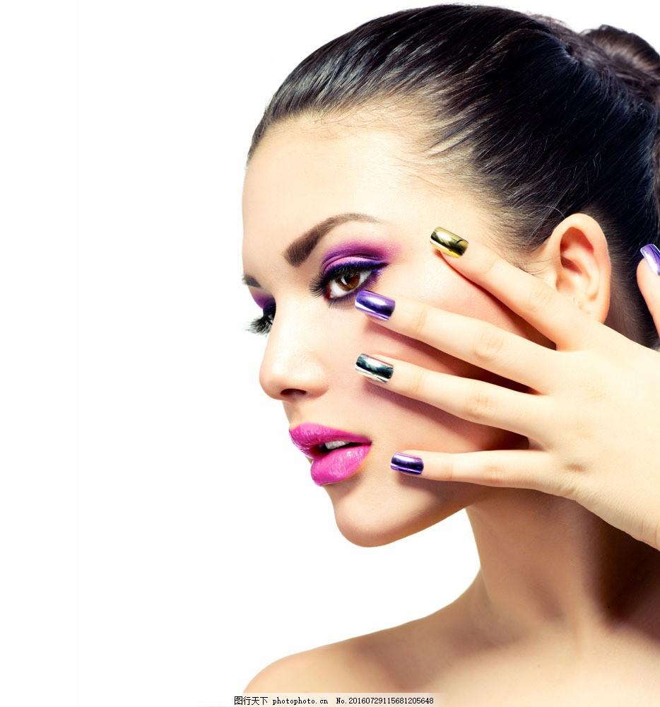 彩妆眼影美女模特图片