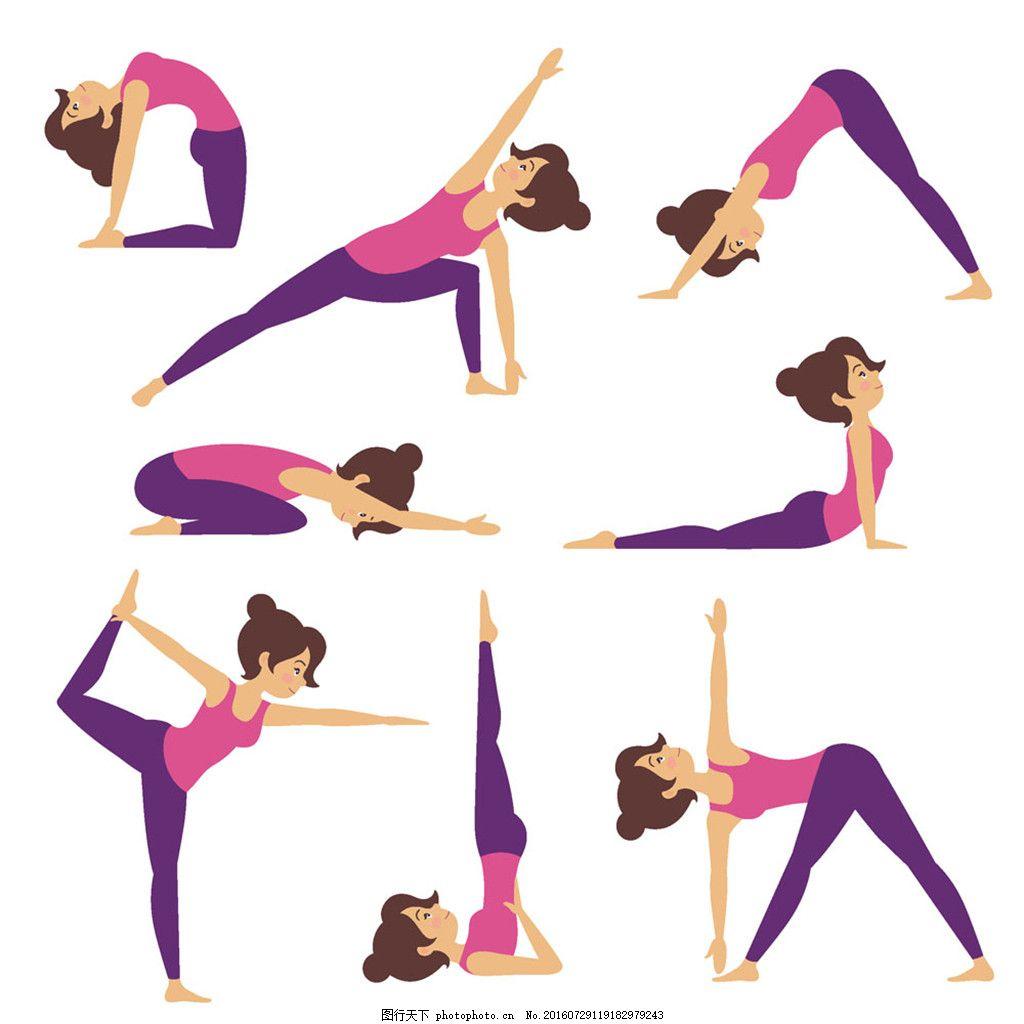 美女瑜伽健身图片