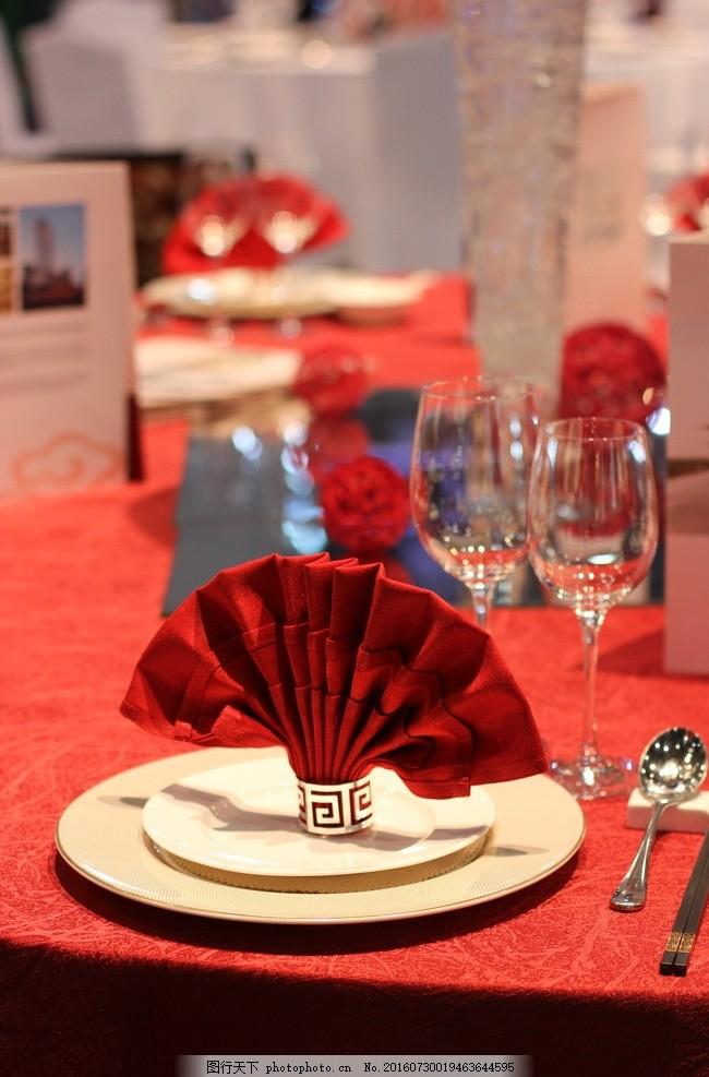 中式婚礼摆台 餐具 中餐 婚礼 美食 用餐 摄影 文化艺术 节日庆祝 350图片