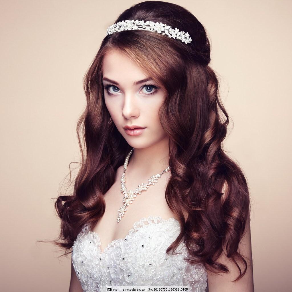 欧美新娘卷发型 欧美范 新娘美女 卷发新娘 新娘发型 卷发发型图片
