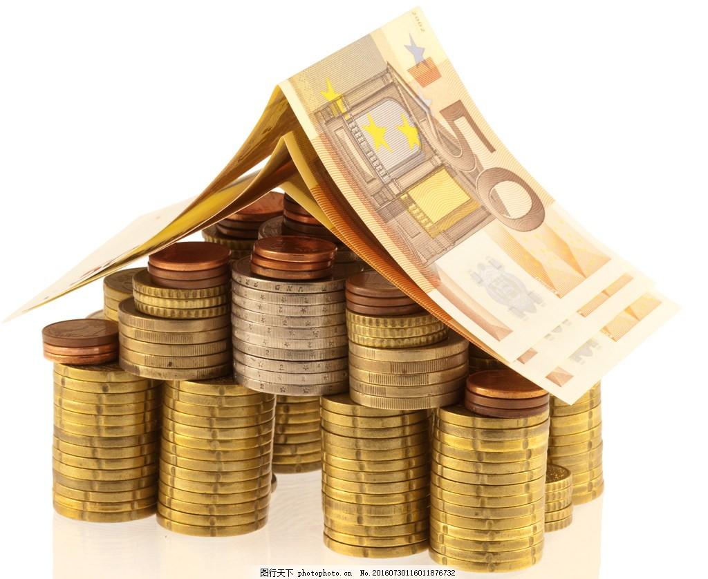 高清创意钱币房屋图片下载 纸币 纸钞 钞票 外国硬币 外汇