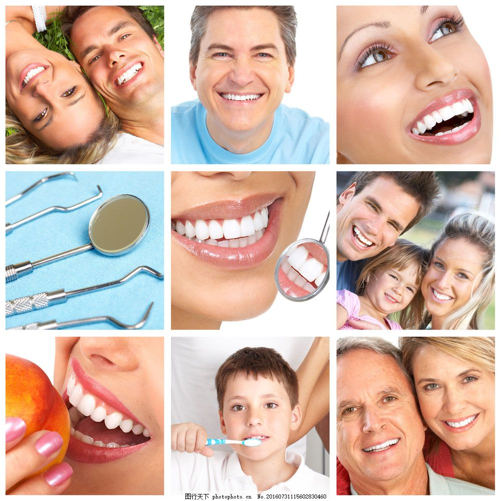 健康牙齿图片素材 健康牙齿 洁白牙齿 健康洁白 微笑 笑容 美女 家庭
