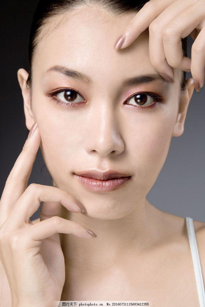 彩妆模特脸部写真图片