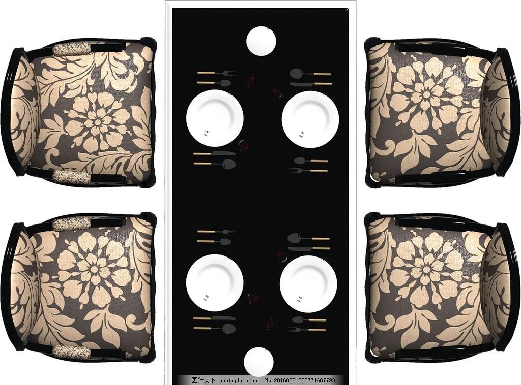 彩平餐桌素材 平面图餐桌 室内装修餐桌 彩平餐桌套装 平彩素材 彩平