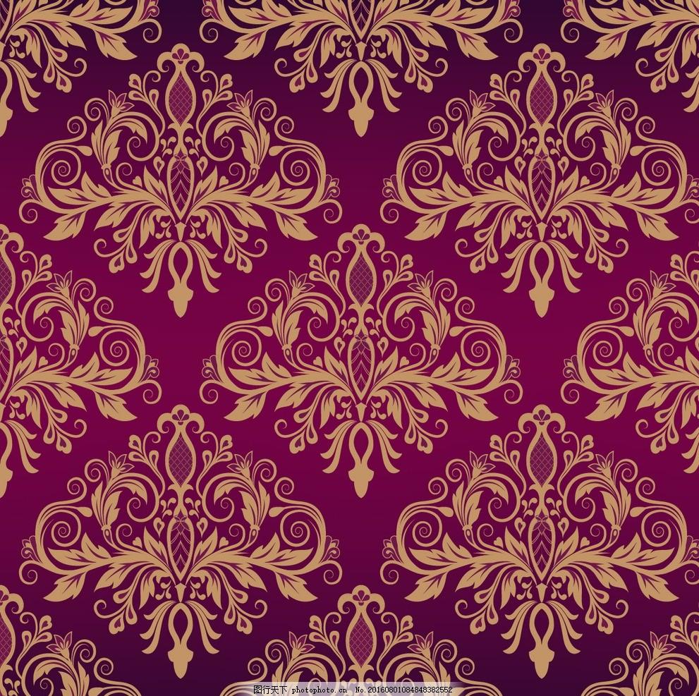 欧式花纹背景 欧式花纹边框 欧式装饰花纹 欧式花纹 金色植物花纹