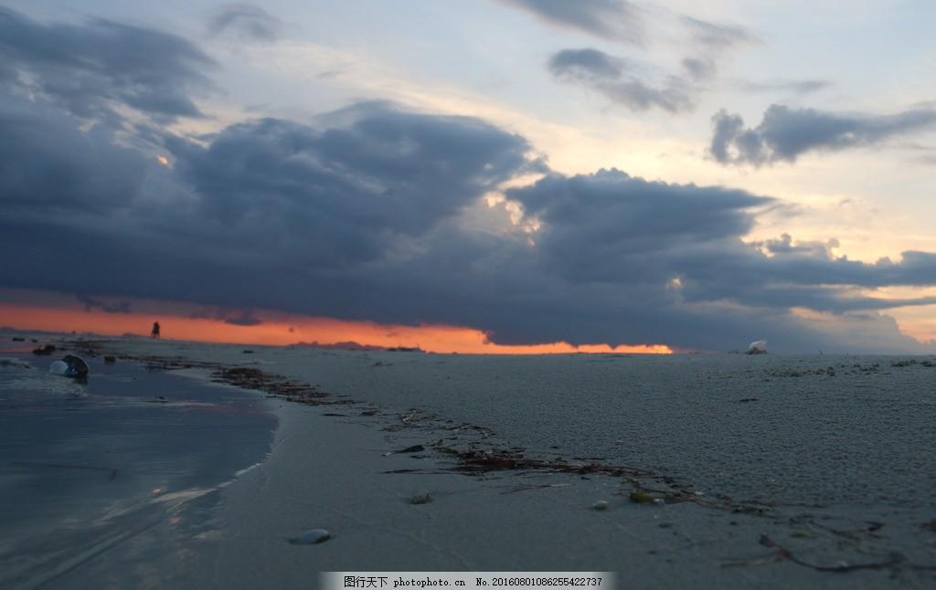 日落 海边 沙滩 浅色 壁纸 夜景 泰国 苏梅 摄影 自然景观 自然风景